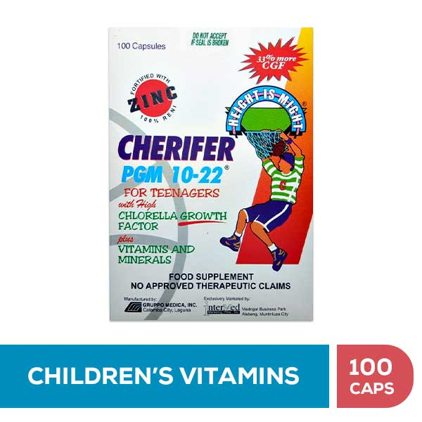 Cherifer Pgm 10-22 with Zinc • 100 Caps