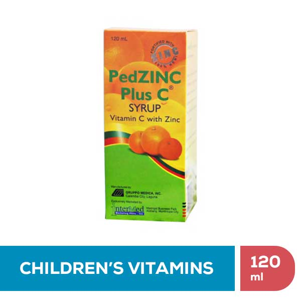 PedZinc Plus C Syrup • 120ml